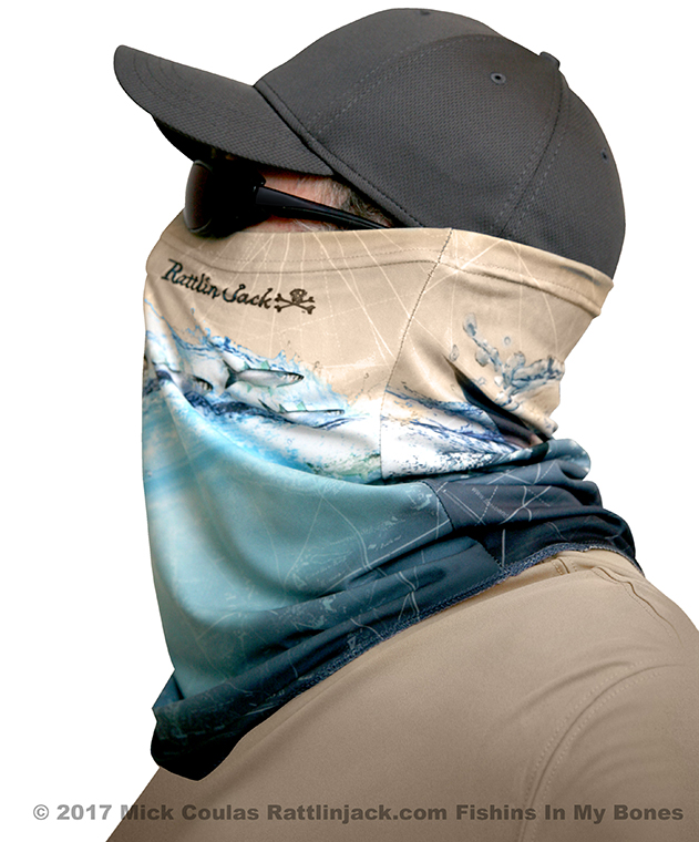 Sun Mask UPF Neck Protection Tarpon Taupe by Rattlin Jack