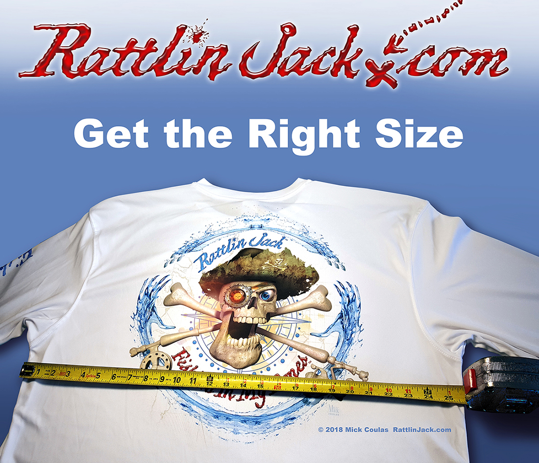 Fishing Shirt Size Chart - order online and get the right size!