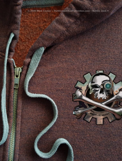 Rattlin-Jack-Mens-Hooded-Fleece-Sweatshirt-Zip-Hoodie-Russet-detail