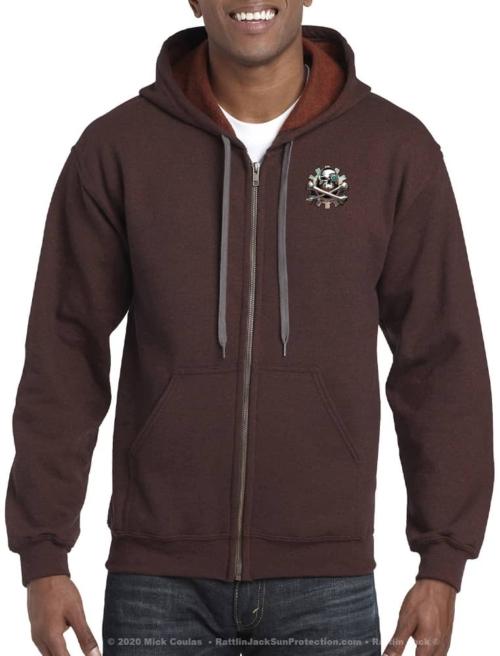 Rattlin-Jack-Mens-Hooded-Fleece-Sweatshirt-Zip-Hoodie-Russet-front