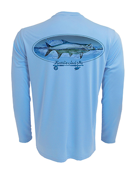 Men's UPF 50+ Fishing Tarpon Oval Performance Long Sleeve Shirt by Rattlin Jack