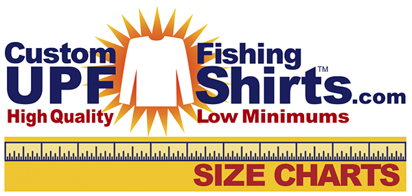 Custom UPF Fishing Shirts Link To Size Chart