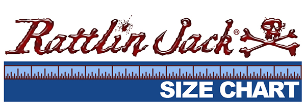 order apparel online and get the right size Rattlin Jack Size Chart