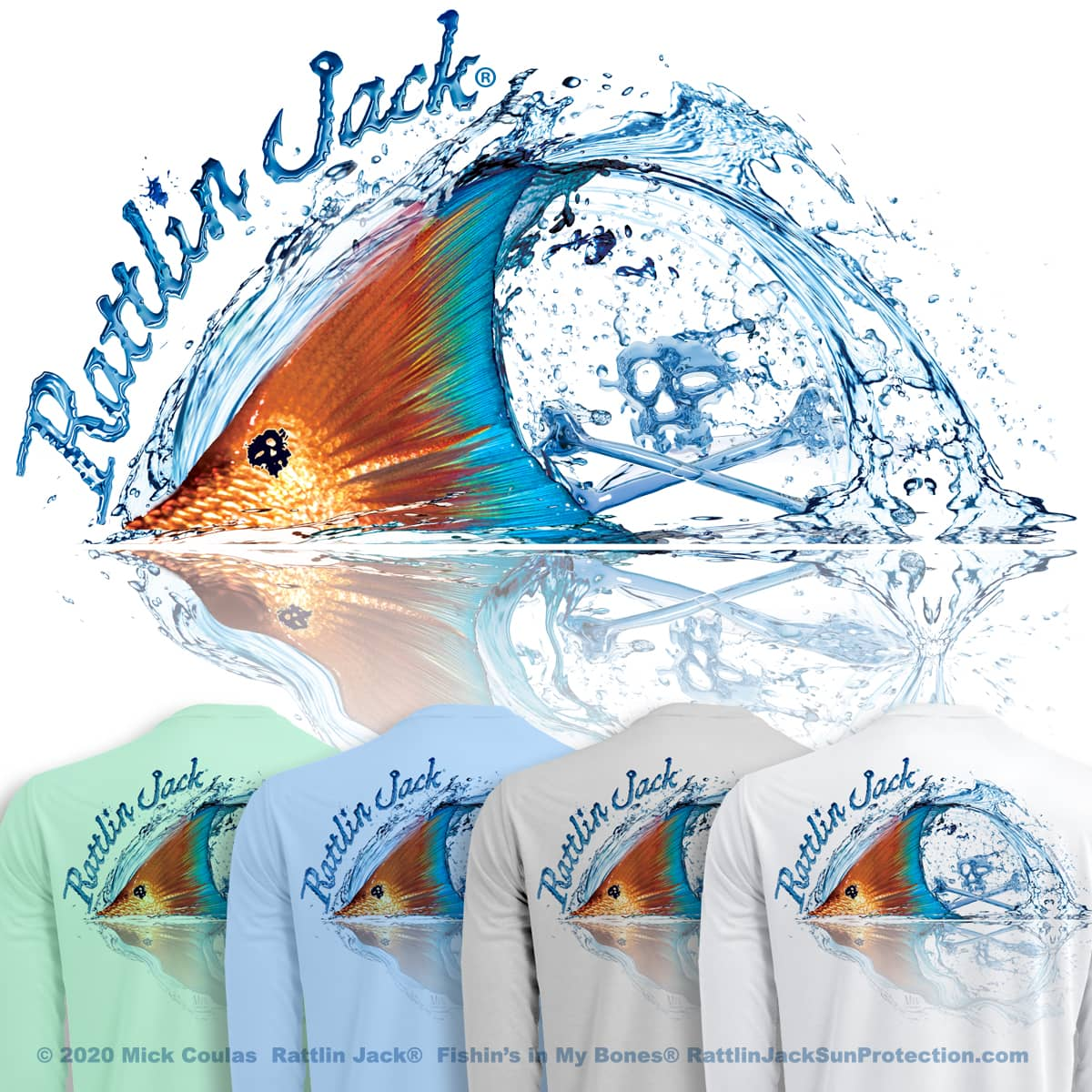 Rattlin-Jack-Sun-Protection-LS-Shirt-Tailing-Redfish UPF 50